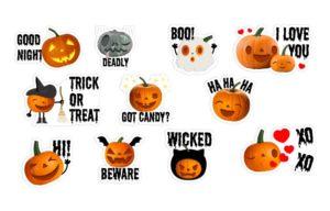 Страшные стикеры на Хеллоуин в Вайбере