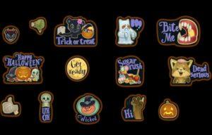 Новые наклейки на Хеллоуин