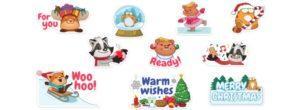 Стикеры для счастливого рождества в Вайбере